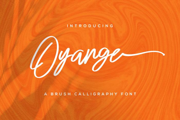 Oyange Font poster