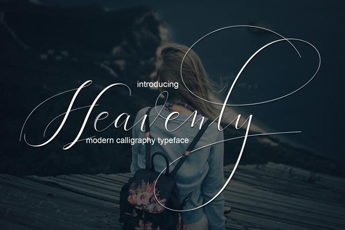 Heavenly Font poster