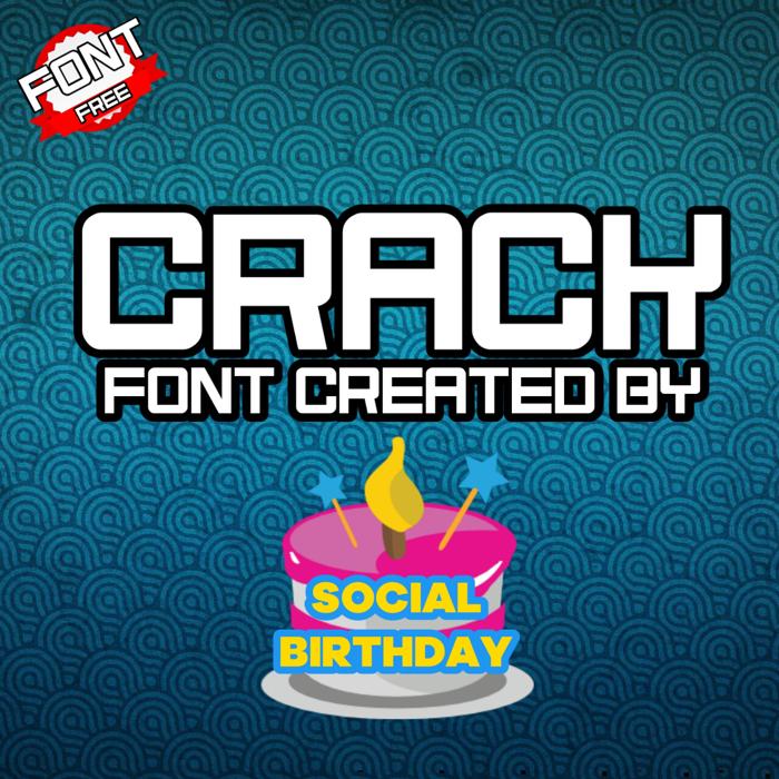 Crack Font poster