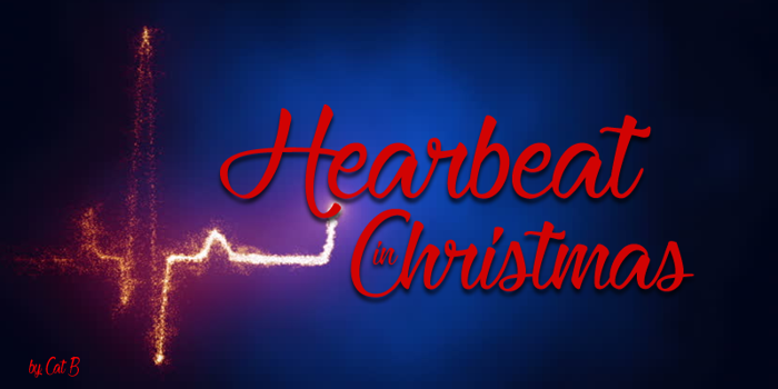 Heartbeat in Christmas Font poster