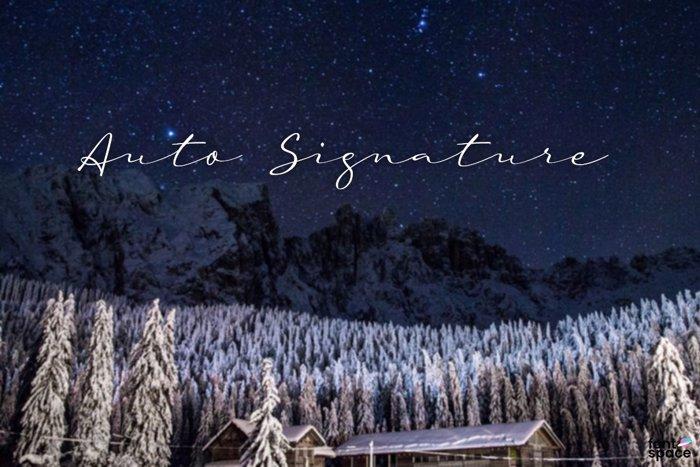 a Auto Signature Font poster