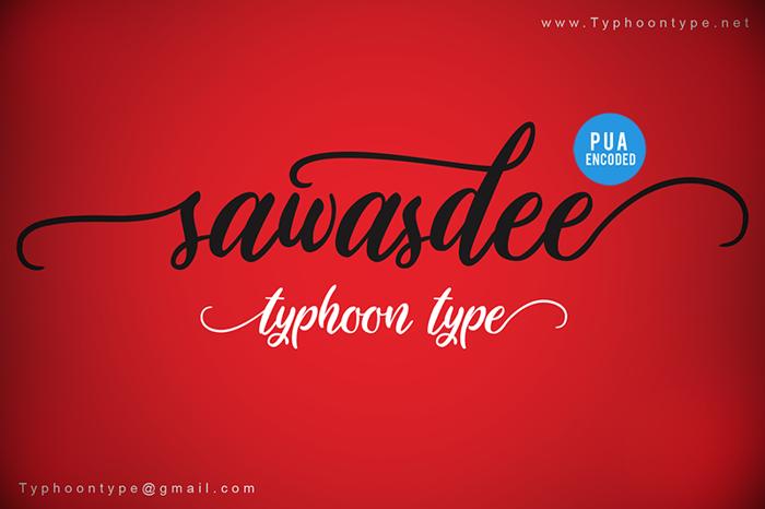 Sawasdee Font poster