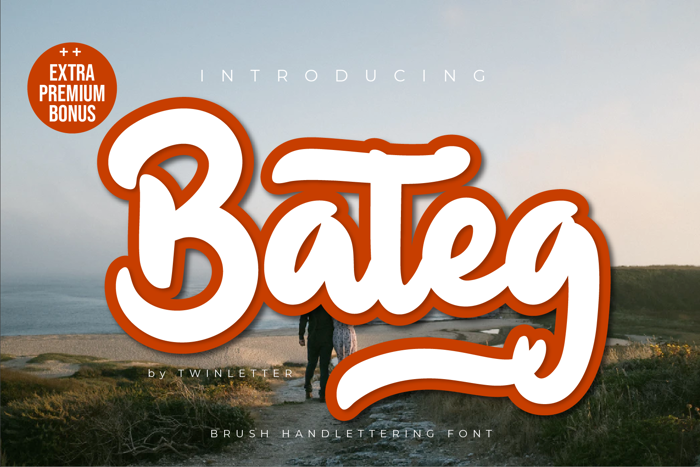Bateg Font poster