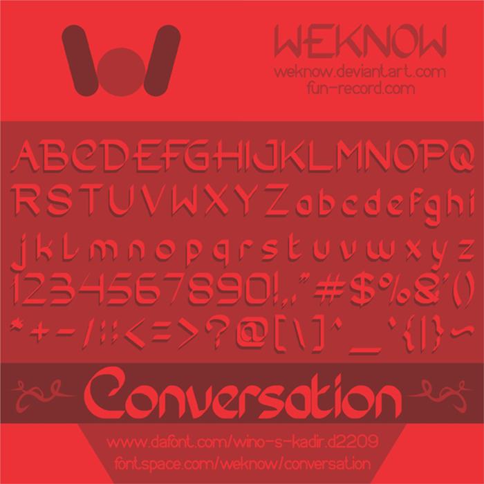 Conversation Font poster