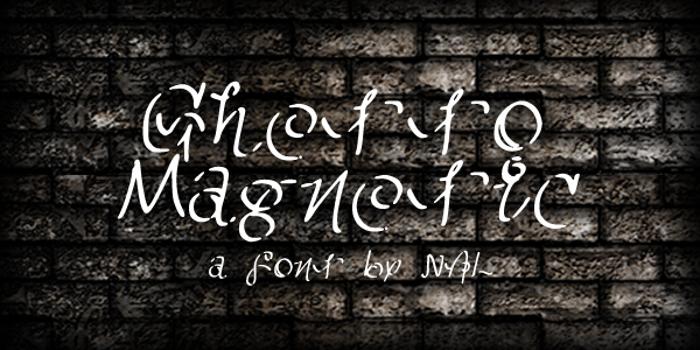 GhettoMagnetic Font poster