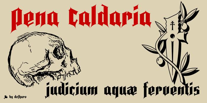 Pena Caldaria Font poster