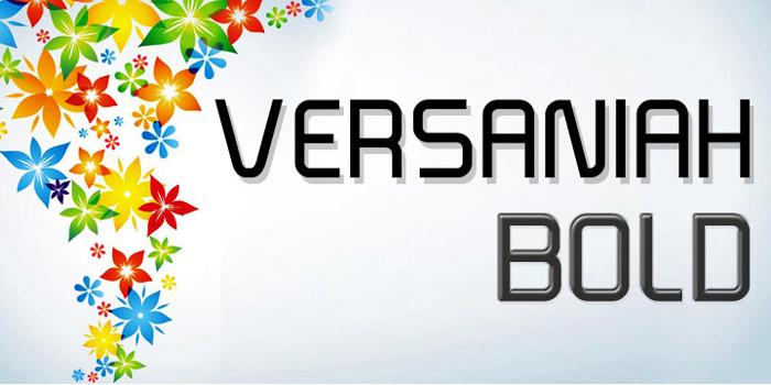 Versaniah_Bold Font poster