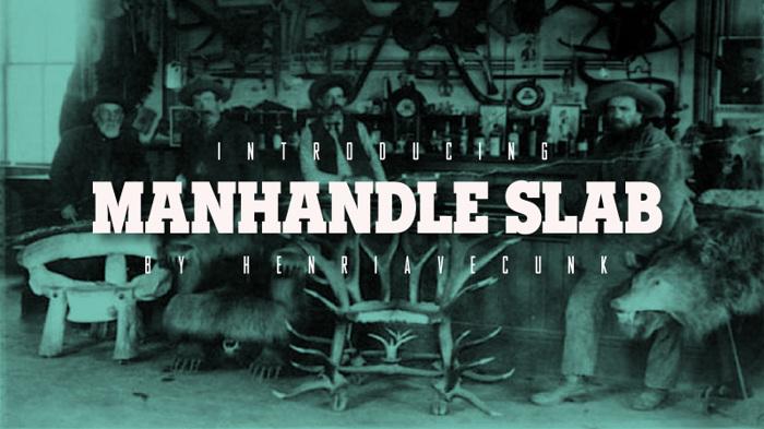 Manhandle Slab Font poster