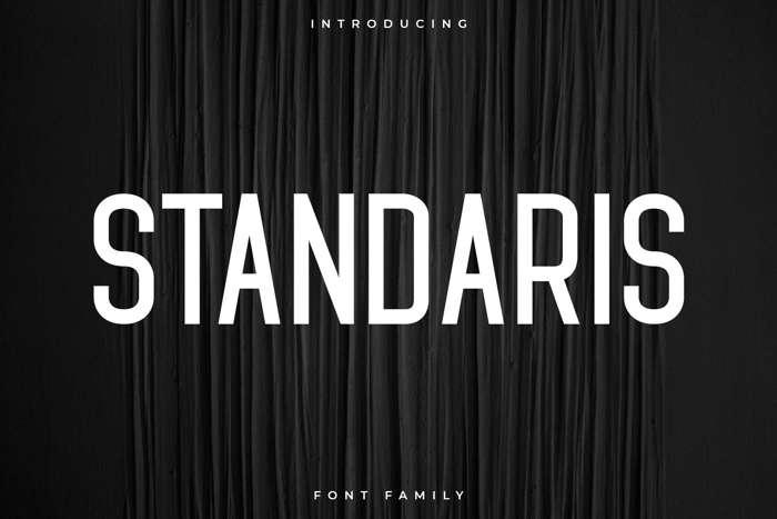 Standaris Font poster
