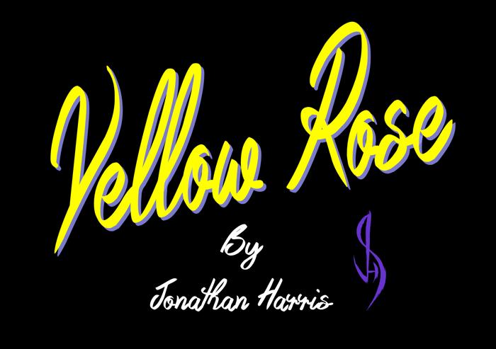 Yellow Rose Font poster