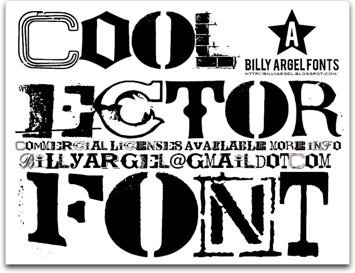COOLECTOR Font poster