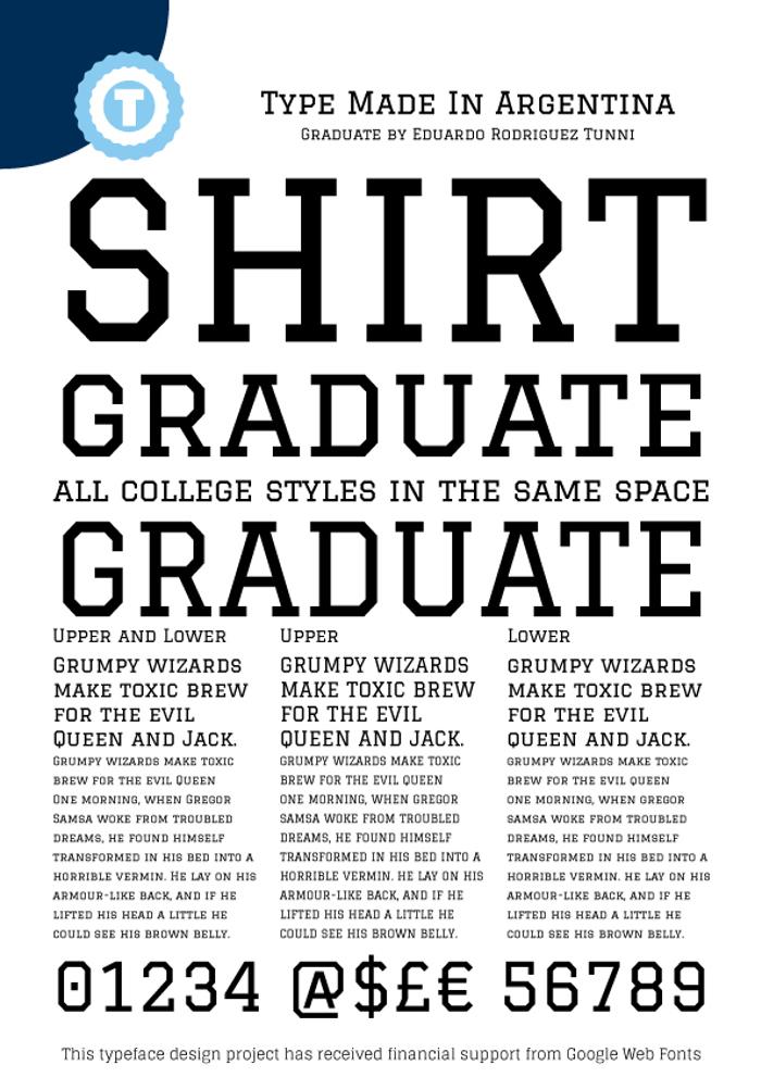 Graduate Font poster