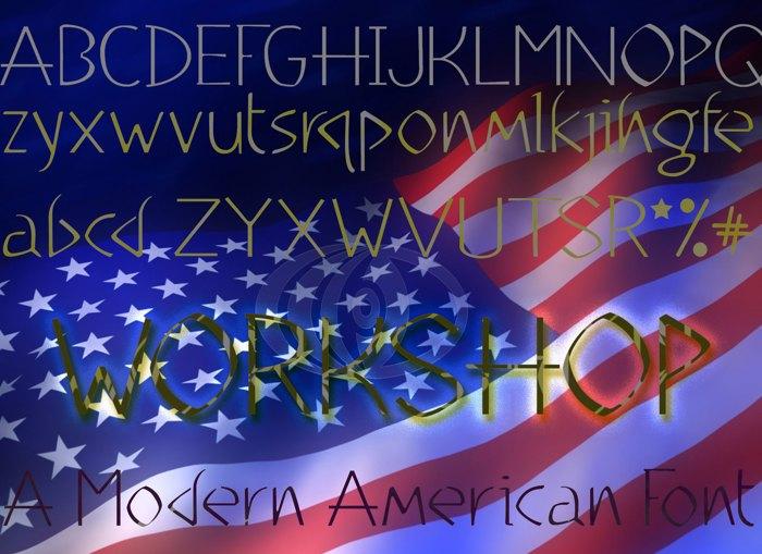 WorkShop Light Font poster