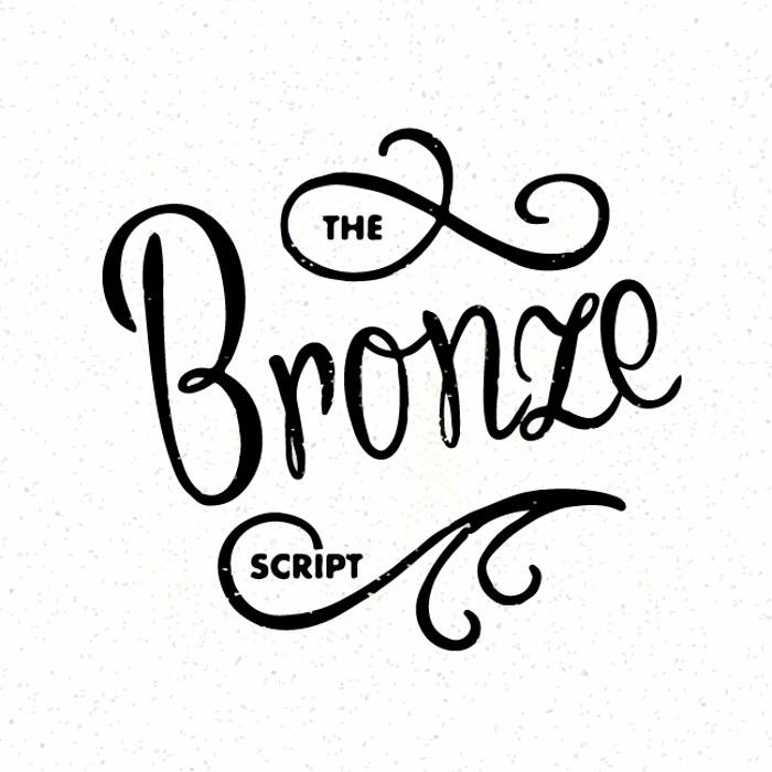 Bronze Script Font poster