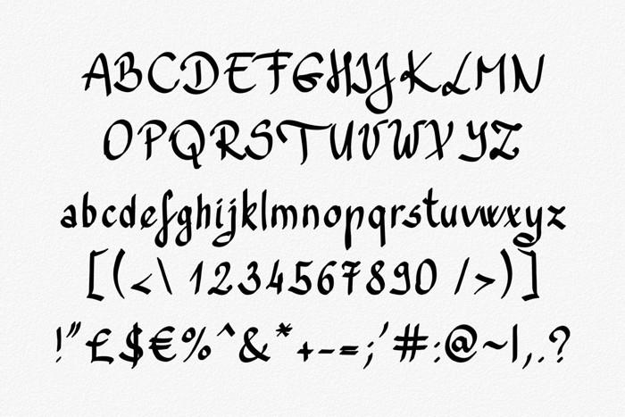 Trefay Font poster