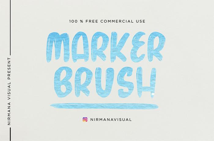 Marker Brush Font poster