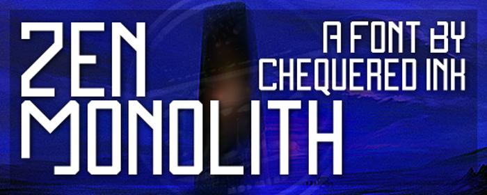 Zen Monolith Font poster