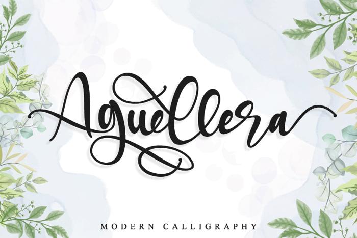 Aguellera Font poster