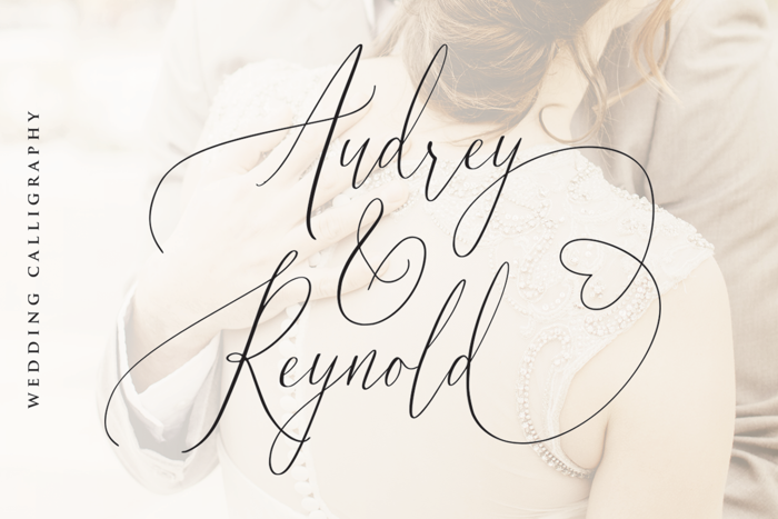 Audrey and Reynold Font poster