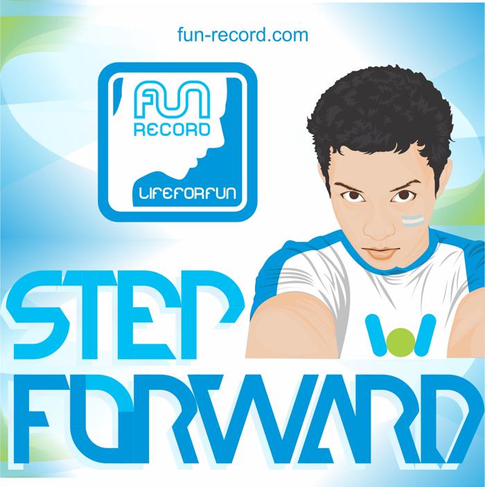 step forward Font poster