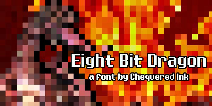Eight Bit Dragon Font poster