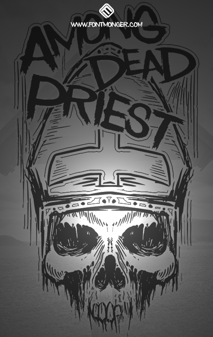 Among Dead Priest Font poster