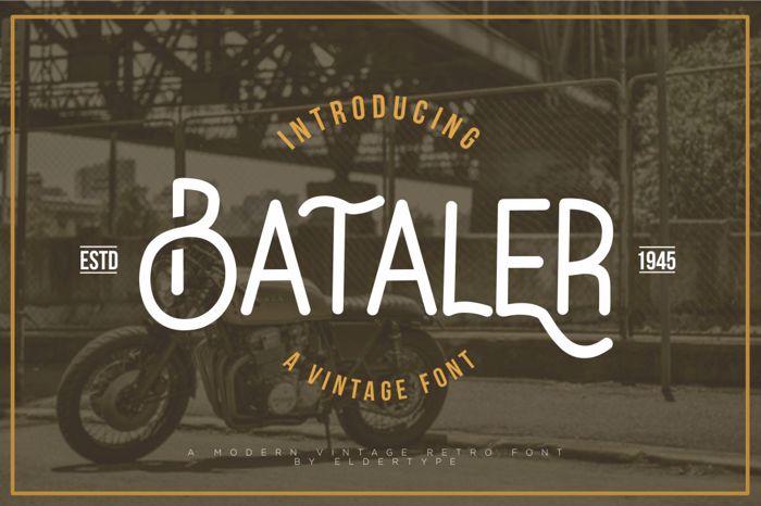 Bataler Font poster