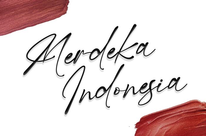Merdeka Indonesia Font poster