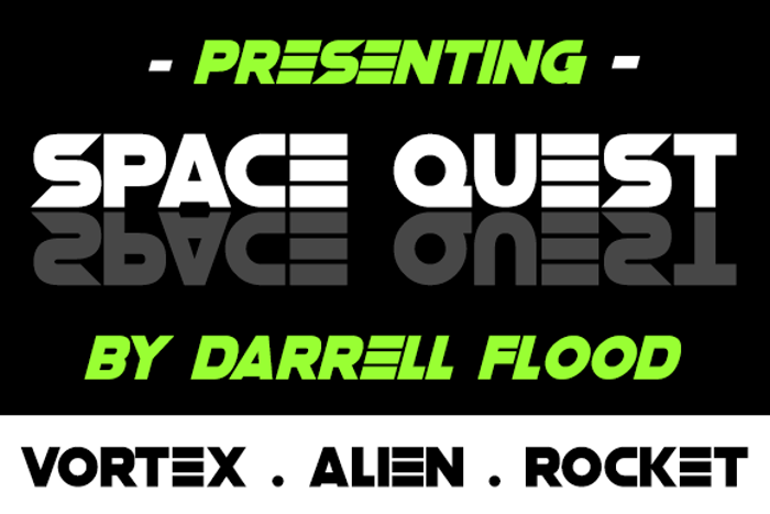 Space Quest Font poster