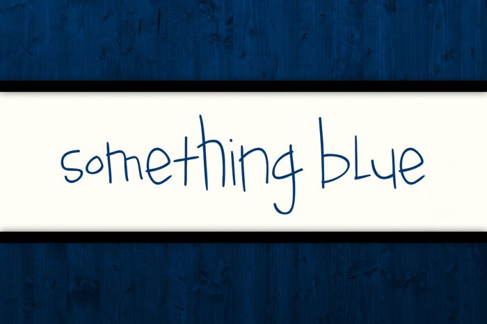 Something Blue Font poster