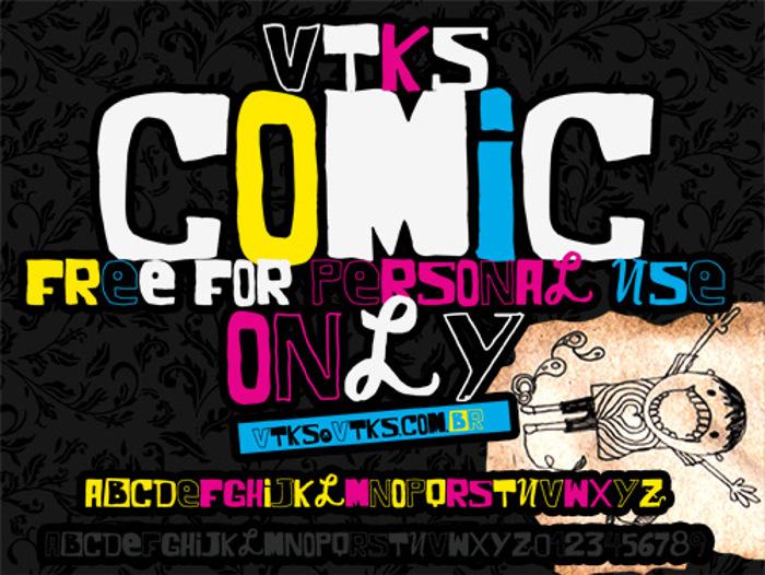 VTKS COMIC Font poster