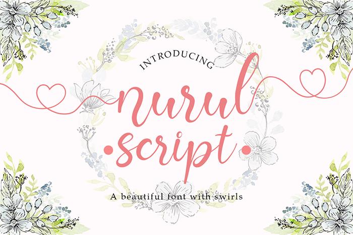 Nurul Script Font poster