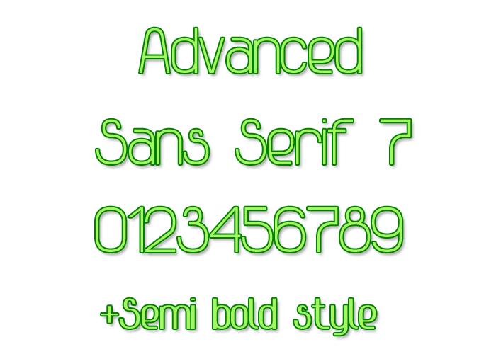 Advanced Sans Serif 7 Font poster