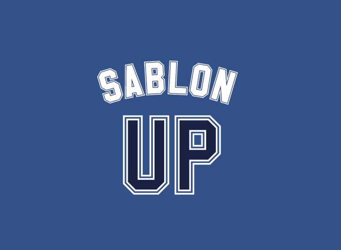 Sablon Up Font poster