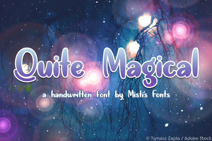 Quite Magical Font poster