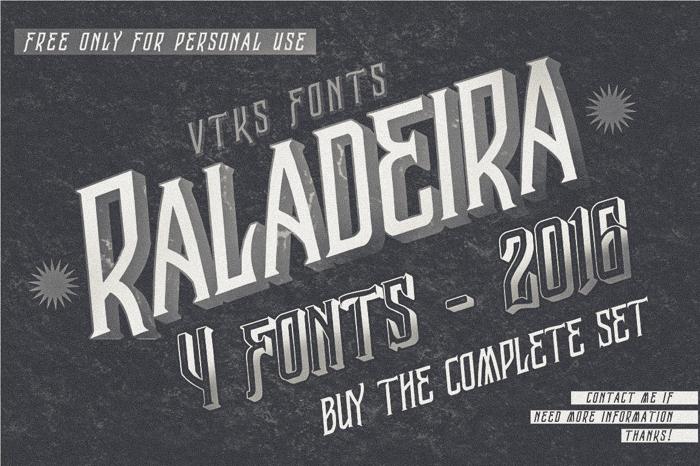 Vtks Raladeira 2 Font poster
