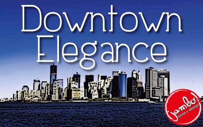 Downtown Elegance Font poster