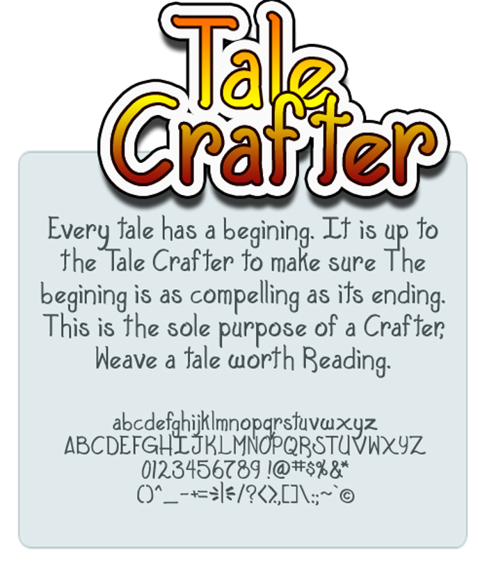 Tale Crafter Font poster