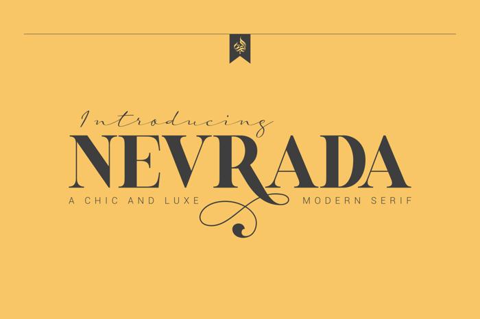 AL Nevrada Font poster
