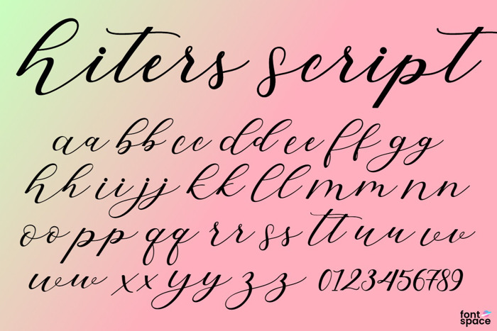 Hiters Script Font poster