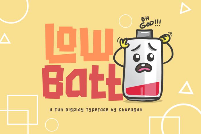 Low Batt Font poster
