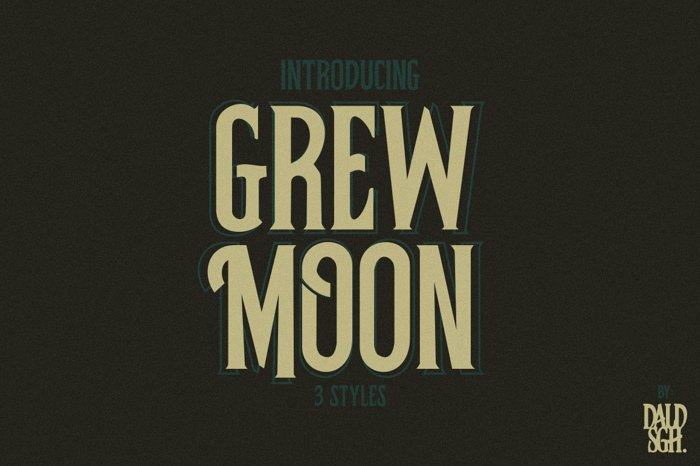 Grewmoon Font poster
