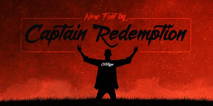 Captain Redemption  Font poster