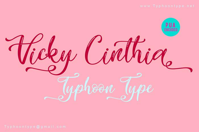 Vicky Cinthia Font poster