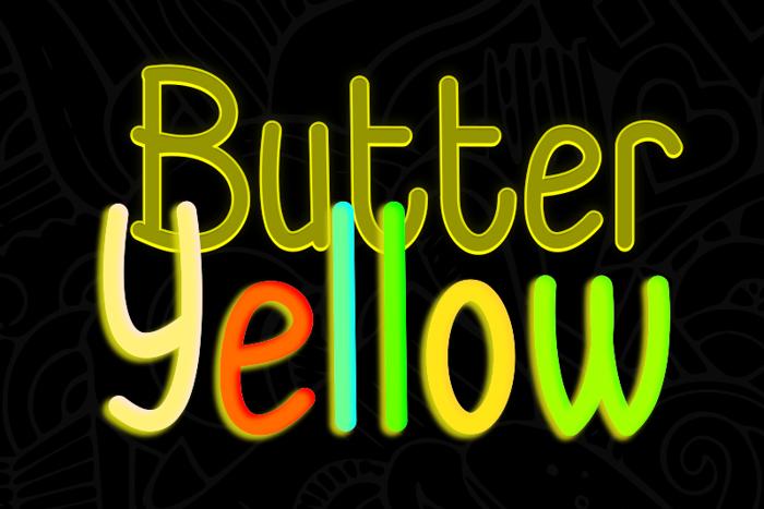 Butter Yellow Font poster