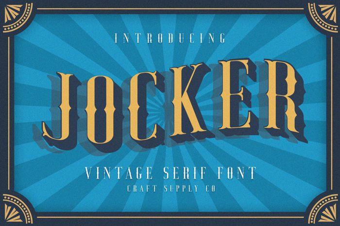 Jocker Font poster