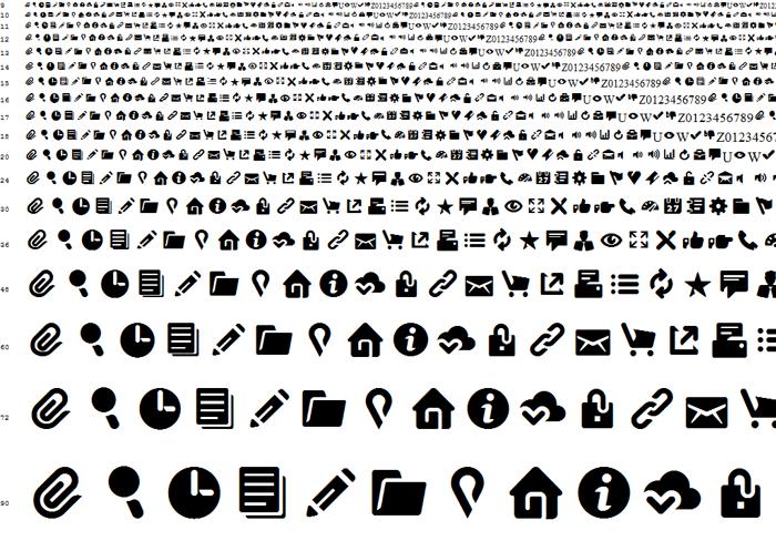 Breezi Icon Set Font poster