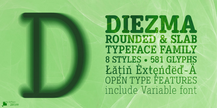 Diezma Font poster