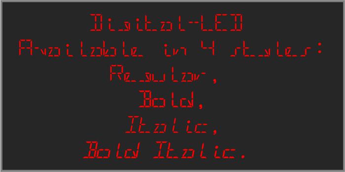 Digital-LED-Demo Font poster
