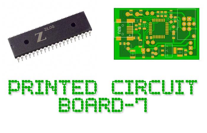 Printed Circuit Board-7 Font poster